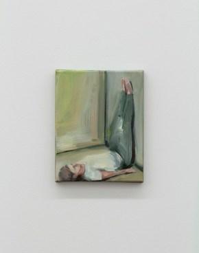 Daniela Krtsch, Sem título #8 (série Heimat), 2014, óleo sobre tela, 24 x 18 cm. Imagem cortesia da artista e 3+1 Arte Contemporânea, Lisboa. Fotografia da exposição: João Ferro Martins.