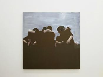Daniela Krtsch, Sem título #2 (série Heimat), 2014, óleo sobre tela, 150 x 150 cm. Imagem cortesia da artista e 3+1 Arte Contemporânea, Lisboa. Fotografia da exposição: João Ferro Martins.