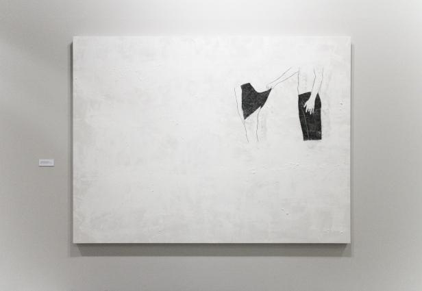 """Sara & André, """"num estilo não conforme à etiqueta"""". Exposição 'Exercício de Estilo', MNAC. Fotografia da exposição Making Art Happen."""