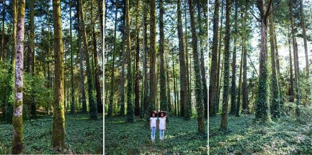Mónica de Miranda, Twins (da série Linetrap), 2014. Inkjet print, 100 x 150 cm each (tryptich), Ed. 3 + 1 AP. Cortesia da artista e Carlos Carvalho Arte Contemporânea.