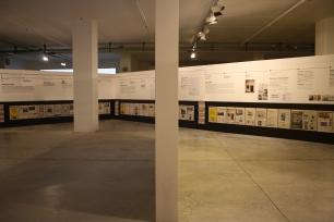Vista geral da exposição 'Homeland-News from Portugal'. Garagem Sul - CCB, Lisboa. Fotografia Diogo Nunes. Cortesia do CCB.