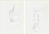 Helena Almeida, #5 Desenho, 2010 – 14. Lápis, tinta da china e pastel de cor sobre papel, 21 x 14 cm (Frente e Verso). Cortesia da artista e Galeria Filomena Soares.
