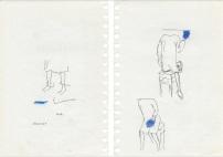Helena Almeida, #9 Desenho, 2010 – 14. Lápis, tinta da china e pastel de cor sobre papel, 21 x 14 cm (Frente e Verso). Cortesia da artista e Galeria Filomena Soares.