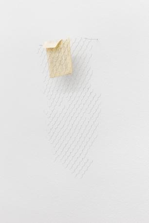Joana Escoval, Constituição, 2014 Prata, página de livro 45 × 26 cm. Cortesia da artista e Vera Cortês Art Agency, Lisboa, 2014-2015.