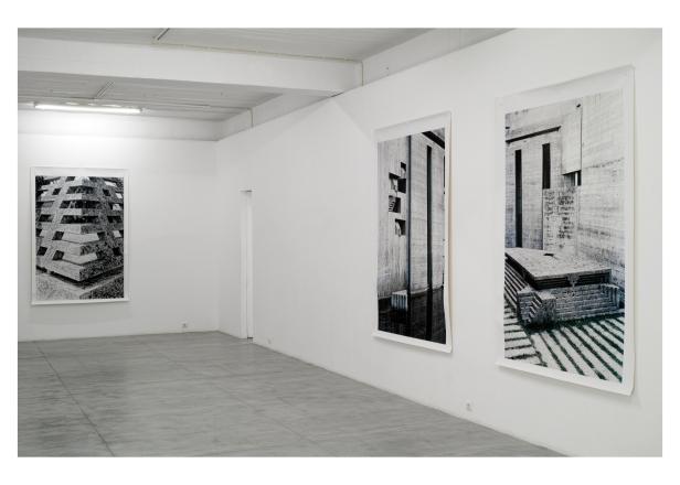 Vista da exposição 'Alpha Béton' de Nuno Cera no CAPC-Círculo de Artes Plásticas de Coimbra. Cortesia do artista.