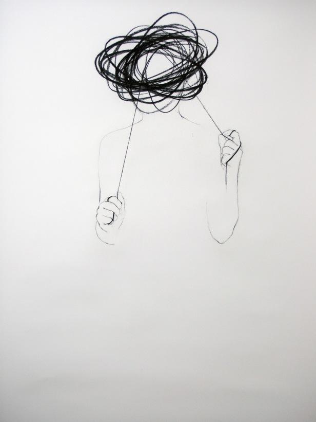 Cecília CostaS/título, 2009. Carvão sobre papel183x113cm. Cortesia da artista e Galeria João Esteves de Oliveira.