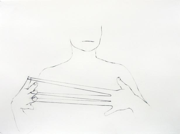 Cecília Costa S/título, 2014. Carvão sobre papel 58x76cm. Cortesia da artista e Galeria João Esteves de Oliveira.