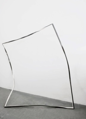 Bruno Cidra, Untitled - Crystal frontier, 2015. iron and paper 58 3/10 × 55 1/10 × 29 1/2 in 148 × 140 × 75 cm. Cortesia do artista e Baginski, Galeria/Projectos.