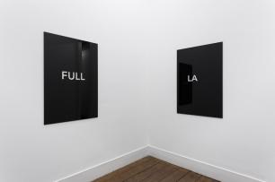Detanico Lain, New First Full Last, 2014 120 x 80 cm Black plexiglass, transparent plexiglass, laser cut. Cortesia dos artistas e Vera Cortês Art Agency, Lisboa.