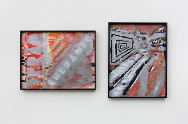 Gabriel Lima, Hanoi, Hanoi, 2015. 24 x 31 & 31 x 24 cm, guache em papel. Galeria Múrias Centeno, Lisboa. Fotografia Bruno Lopes. Cortesia do artista e Galeria Múrias Centeno.