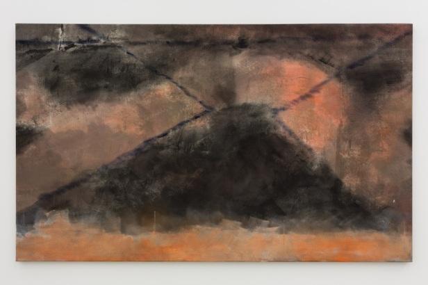Gabriel Lima, Hanoi, Hanoi, 2015. 120 X 200 cm, óleo e acrílico s/ tela. Galeria Múrias Centeno, Lisboa. Fotografia Bruno Lopes. Cortesia do artista e Galeria Múrias Centeno.