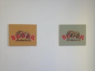 Vista da exposição 'Uma linha dividida em duas partes' Kubik Gallery, Porto.