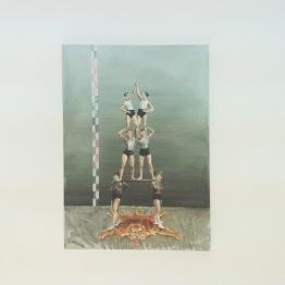 (pormenor) vista da exposição 'Uma linha dividida em duas partes' Kubik Gallery, Porto.