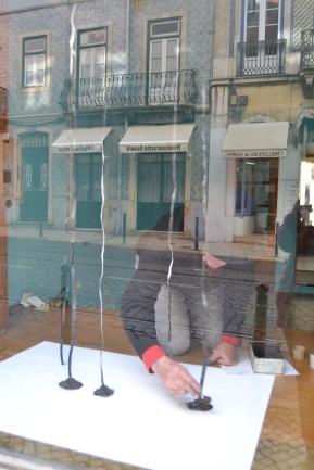 Jorge Martins, montagem de 'Cinco Linhas Quase'. A Montra, Lisboa, 2015.
